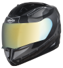 SA-1 RTW Mat Black With White (Fitted With Clear Visor Extra Chrome Gold Visor Free)