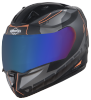 SA-1 RTW Mat Black With Orange (Fitted With Clear Visor Extra Chrome Blue Visor Free)