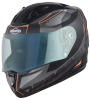 SA-1 RTW Mat Black With Orange (Fitted With Clear Visor Extra Night Vision Blue Visor Free)