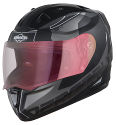 SA-1 RTW Mat Black With White (Fitted With Clear Visor Extra Night Vision Gold Visor Free)