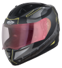 SA-1 RTW Mat Black With Yellow (Fitted With Clear Visor Extra Night Vision Gold Visor Free)
