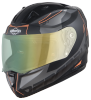 SA-1 RTW Mat Black With Orange (Fitted With Clear Visor Extra Night Vision Green Visor Free)