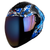 SBA-2 Marine Mat Black With Blue Blue Chrome Visor