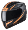 SA-1 WHIF Mat Black With Orange (Fitted With Clear Visor Extra Smoke Visor Free)