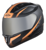 SA-1 WHIF Mat Black With Orange (Fitted With Clear Visor Extra Chrome Silver Visor Free)