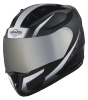 SA-1 WHIF Mat Black With White (Fitted With Clear Visor Extra Chrome Silver Visor Free)