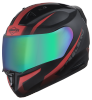 SA-1 WHIF Mat Black With Red (Fitted With Clear Visor Extra Chrome Rainbow Visor Free)