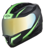 SA-1 WHIF Mat Black With Green (Fitted With Clear Visor Extra Chrome Gold Visor Free)