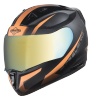 SA-1 WHIF Mat Black With Orange (Fitted With Clear Visor Extra Chrome Gold Visor Free)