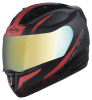 SA-1 WHIF Mat Black With Red (Fitted With Clear Visor Extra Chrome Gold Visor Free)