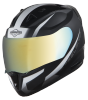 SA-1 WHIF Mat Black With White (Fitted With Clear Visor Extra Chrome Gold Visor Free)