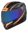 SA-1 WHIF Mat Black With Orange (Fitted With Clear Visor Extra Chrome Blue Visor Free)