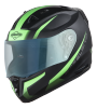 SA-1 WHIF Mat Black With Green (Fitted With Clear Visor Extra Blue Night Vision Visor Free)