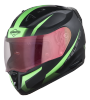 SA-1 WHIF Mat Black With Green (Fitted With Clear Visor Extra Gold Night Vision Visor Free)