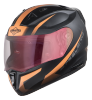 SA-1 WHIF Mat Black With Orange (Fitted With Clear Visor Extra Gold Night Vision  Visor Free)