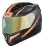 SA-1 WHIF Mat Black With Orange (Fitted With Clear Visor Extra Green Night Vision  Visor Free)