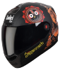 SBA-1 Jagannath Mat Black With Orange  ( Fitted With Clear Visor Extra Smoke Visor Free)