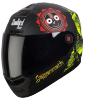 SBA-1 Jagannath Mat Black With Yellow  ( Fitted With Clear Visor Extra Smoke Visor Free)