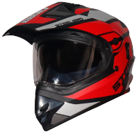 SB-42 Bang Silt Mat Black With Red (Clear With Sun Shield)