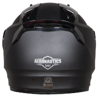 SA-1 Aeronautics Mat Axis Grey With Anti-Fog Shield Clear Visor