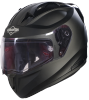 SA-1 Aeronautics Mat Black With Anti-Fog Shield Clear Visor