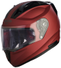 SA-1 Aeronautics Mat Maroon With Anti-Fog Shield Clear Visor