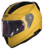 SA-1 Aeronautics Mat Moon Yellow With Anti-Fog Shield Clear Visor