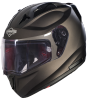 SA-1 Aeronautics Mat Royal Brown With Anti-Fog Shield Clear Visor