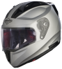 SA-1 Aeronautics Mat Silver With Anti-Fog Shield Clear Visor