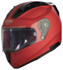 SA-1 Aeronautics Mat Sports Red With Anti-Fog Shield Clear Visor