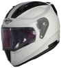 SA-1 Aeronautics Mat White With Anti-Fog Shield Clear Visor