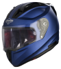 SA-1 Aeronautics Mat Y Blue With Anti-Fog Shield Clear Visor
