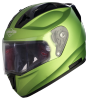 SA-1 Aeronautics Mat Y Green With Anti-Fog Shield Clear Visor