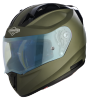 SA-1 Aeronautics Mat Battle Green With Anti-Fog Shield Blue Night Vision Visor