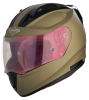 SA-1 Aeronautics Mat Desert Storm With Anti-Fog Shield Gold Night Vision Visor