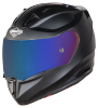 SA-1 Aeronautics Mat Axis Grey With Anti-Fog Shield Blue Chrome Visor