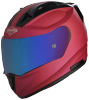 SA-1 Aeronautics Mat Hot Pink With Anti-Fog Shield Blue Chrome Visor