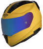 SA-1 Aeronautics Mat Moon Yellow With Anti-Fog Shield Blue Chrome Visor
