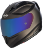 SA-1 Aeronautics Mat Royal Brown With Anti-Fog Shield Blue Chrome Visor