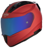SA-1 Aeronautics Mat Sports Red With Anti-Fog Shield Blue Chrome Visor