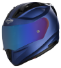 SA-1 Aeronautics Mat Y Blue With Anti-Fog Shield Blue Chrome Visor