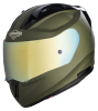 SA-1 Aeronautics Mat Battle Green With Anti-Fog Shield Gold Chrome Visor