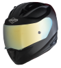 SA-1 Aeronautics Mat Black With Anti-Fog Shield Gold Chrome Visor