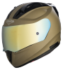 SA-1 Aeronautics Mat Desert Storm With Anti-Fog Shield Gold Chrome Visor