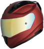 SA-1 Aeronautics Mat Maroon With Anti-Fog Shield Gold Chrome Visor