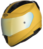 SA-1 Aeronautics Mat Moon Yellow With Anti-Fog Shield Gold Chrome Visor