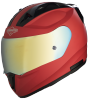 SA-1 Aeronautics Mat Sports Red With Anti-Fog Shield Gold Chrome Visor