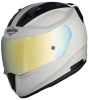 SA-1 Aeronautics Mat White With Anti-Fog Shield Gold Chrome Visor