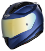 SA-1 Aeronautics Mat Y Blue With Anti-Fog Shield Gold Chrome Visor
