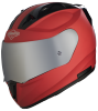 SA-1 Aeronautics Mat Sports Red With Anti-Fog Shield Silver Chrome Visor